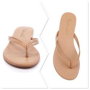 Splendid NWT Shyanna Nude Leather Flip Flip sandal